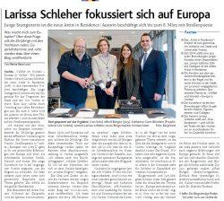 Larissa Schleher fokussiert sich auf Europa
